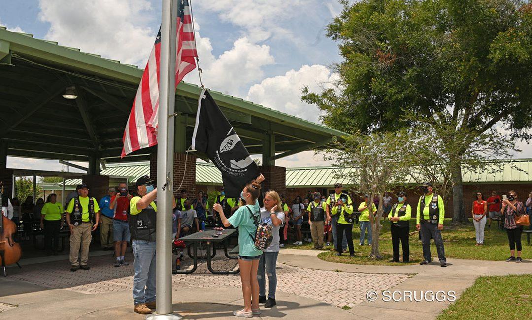 Raising POW/MIA Flags